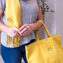 Personalised Embroidered Monogram Bag And Scarf Set