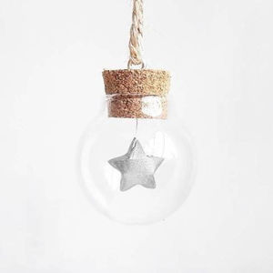 Tiny Bauble With A Mini Silver Paper Origami Star