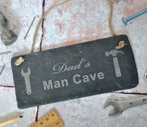 Personalised Man Cave Slate Sign - art & decorations