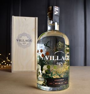 Village Gin In A Gift Box - wines, beers & spirits