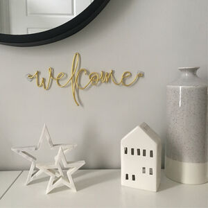 'Welcome' Wire Word Art