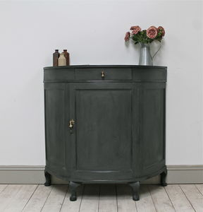 Distressed Antique Demi Lune Sideboard
