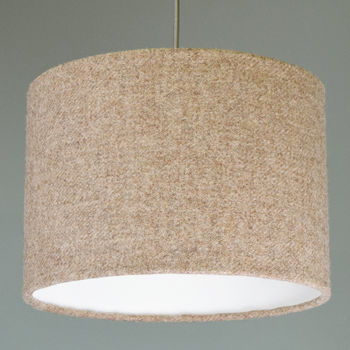 Natural Brown Harris Tweed Lampshade