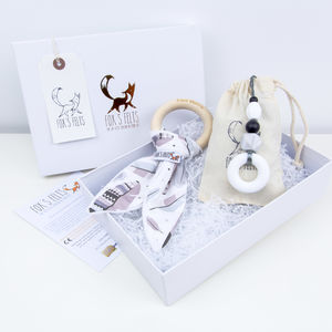 Mumma And Baby Feathers Teething Gift Set - 1st mother's day