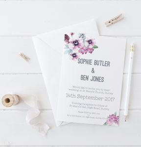 Watercolour Floral Stationery Set