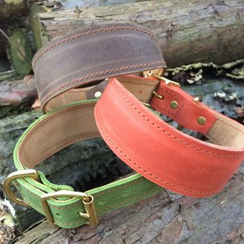 Whippet Collars Jaffa, Toffee, Pistachio