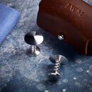 Denzil Bronze Cufflinks With Personalised Pouch