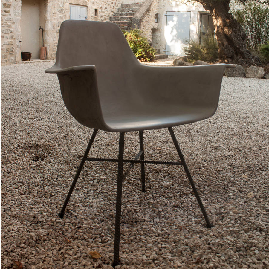 Cement Arm Chairs ~ Hauteville concrete armchair by lime lace