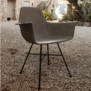 Hauteville Concrete Armchair - furniture
