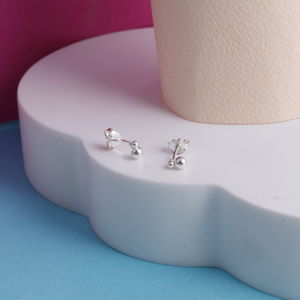 Bobble Studs In Sterling Silver - bridesmaid jewellery