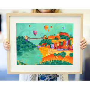 Colourful Bristol Print - canvas prints & art