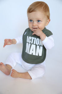 """Action Man"" Bib"