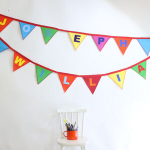 Colourful Kids Bunting With Name