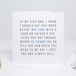 'Always' Step Dad Father's Day Card
