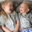 Personalised Super Brother/ Sister T Shirt Set