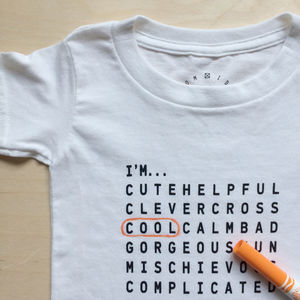 Kids And Teens 'Attitude' T Shirt And Pen - clothing