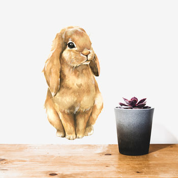 Brown Bunny Wall Sticker