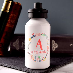 Personalised Wreath Water Bottle