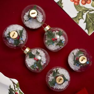 Christmas Bauble Placecard Holders - christmas parties & entertaining