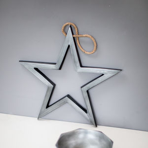 Antique Nickel Hanging Star - summer sale