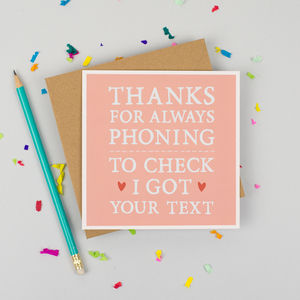 'Always Phoning' Mother's Day Card