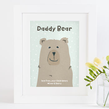 Daddy Bear Personalised Print