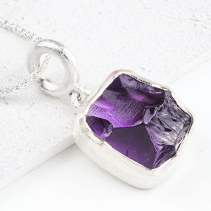 Rough Cut Amethyst Necklace - necklaces & pendants