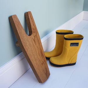 Oak Boot Jack - new in garden