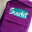 Name Splash Personalised Back Pack