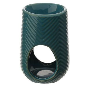 Teal Ceramic Wax Melt Burner With Six Melts