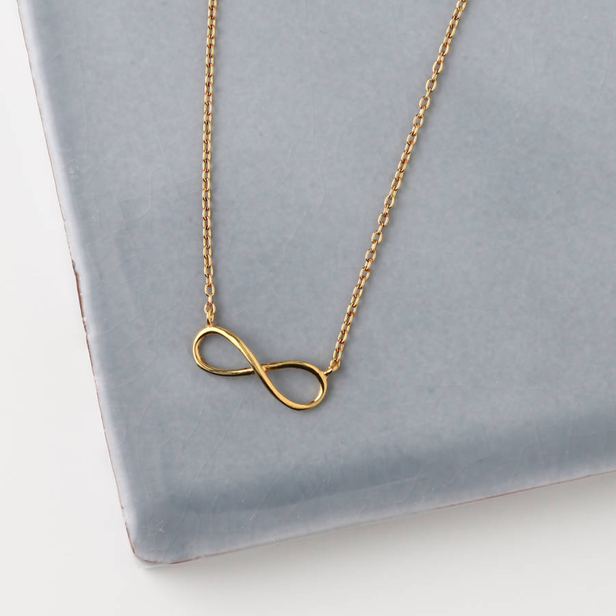 Gold plated infinity necklace by orelia fine notonthehighstreet gold plated infinity necklace aloadofball