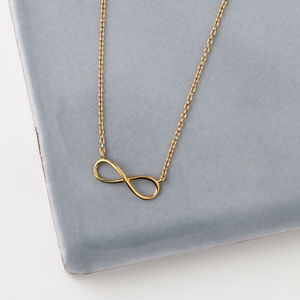 Gold Plated Infinity Necklace