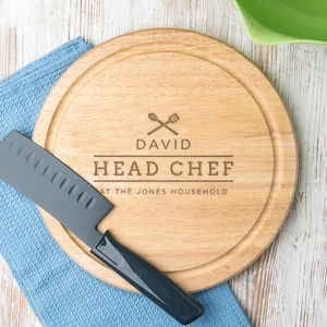 Personalised Head Chef Chopping Board