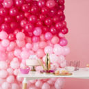 Ombre Pink Balloon Wall Party Decoration Pack