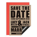 Retro Poster Wedding Save The Date Card Or Magnet