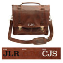 Personalised Leather Classic Satchel