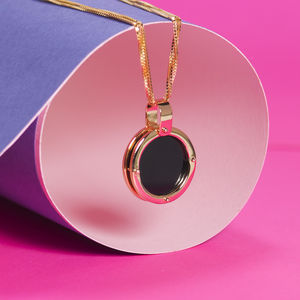 Black Agate And Gold Necklace - necklaces & pendants