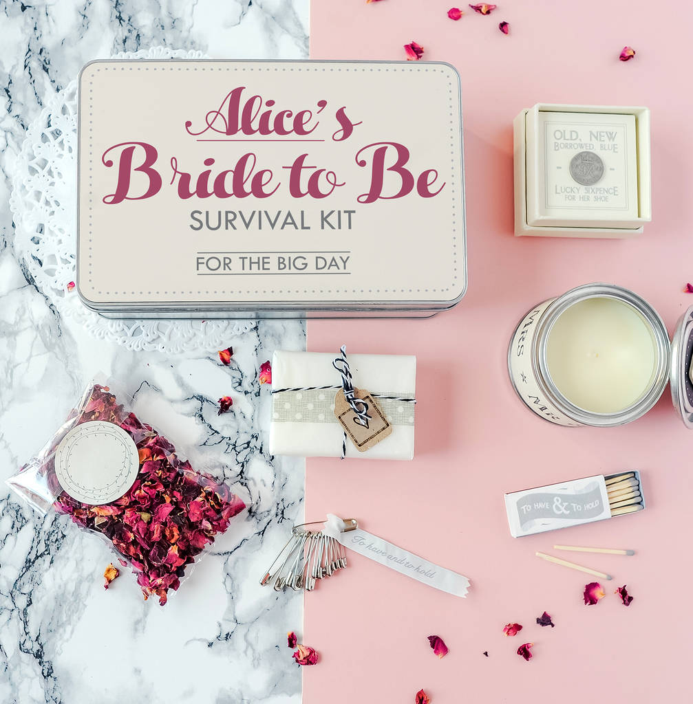 Personalised 'bride To Be' Survival Kit By The Little
