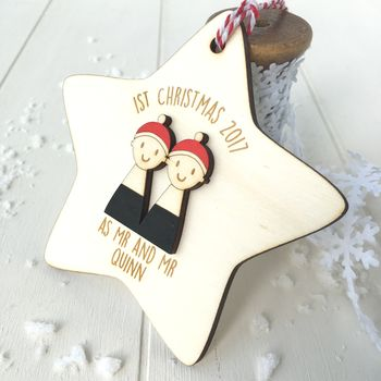 Personalised First Christmas As Mr And Mr Decoration