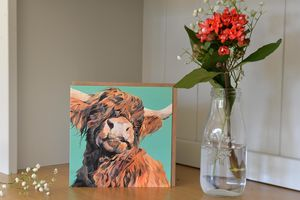 Wallace Highland Cow Greetings Card