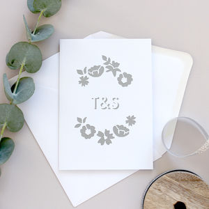 Personalised Cut Floral Card