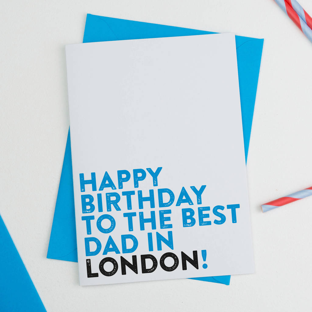 Personalised Best Dad In Town Birthday Card