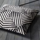 Black And White Geo Floor Cushion