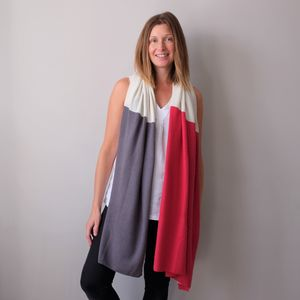 Multi Colour Cashmere Wool Wrap Shawl - fashion accessories