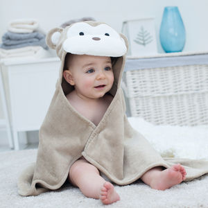 Personalised Cheeky Monkey Baby Towel - bathroom