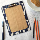 Paloma Clipboard, Blue Brushstroke Design