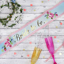 Hen Party Bride To Be Floral Sash