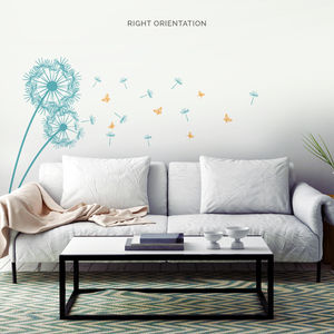 Dandelion And Butterflies Wall Decal Sticker - decorative accessories