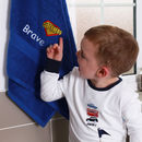 Children's Personalised 'Superhero' Bath Towel