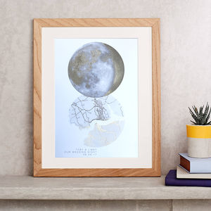 Personalised Moon Phase And Map Print - our top new picks